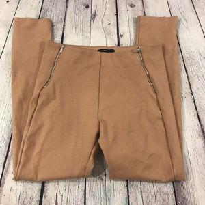 Forever 21 Ribbed Knit Leggings Size Large Tan